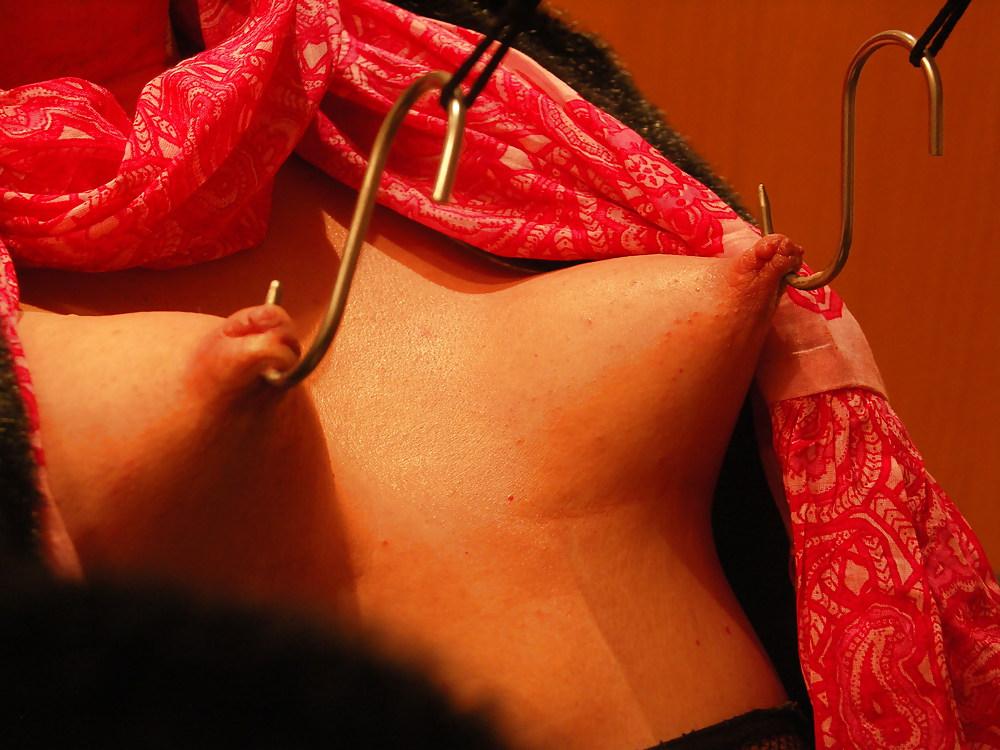 Stretching womens nipples, jizz black girls