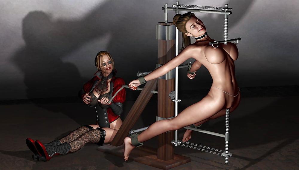 Cruel bdsm couple catch an anal lesbian
