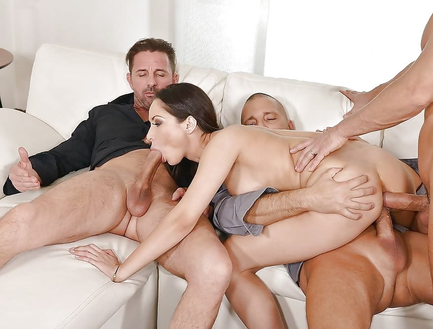 Porn three men fucking a girl girls with