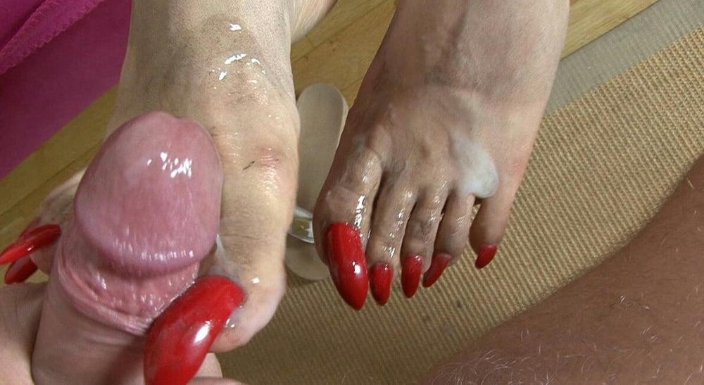 Watch long nail handjob