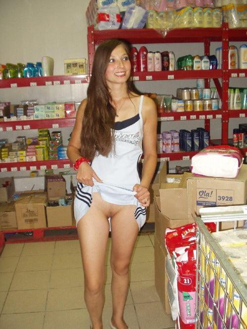 Girls shopping for underwear