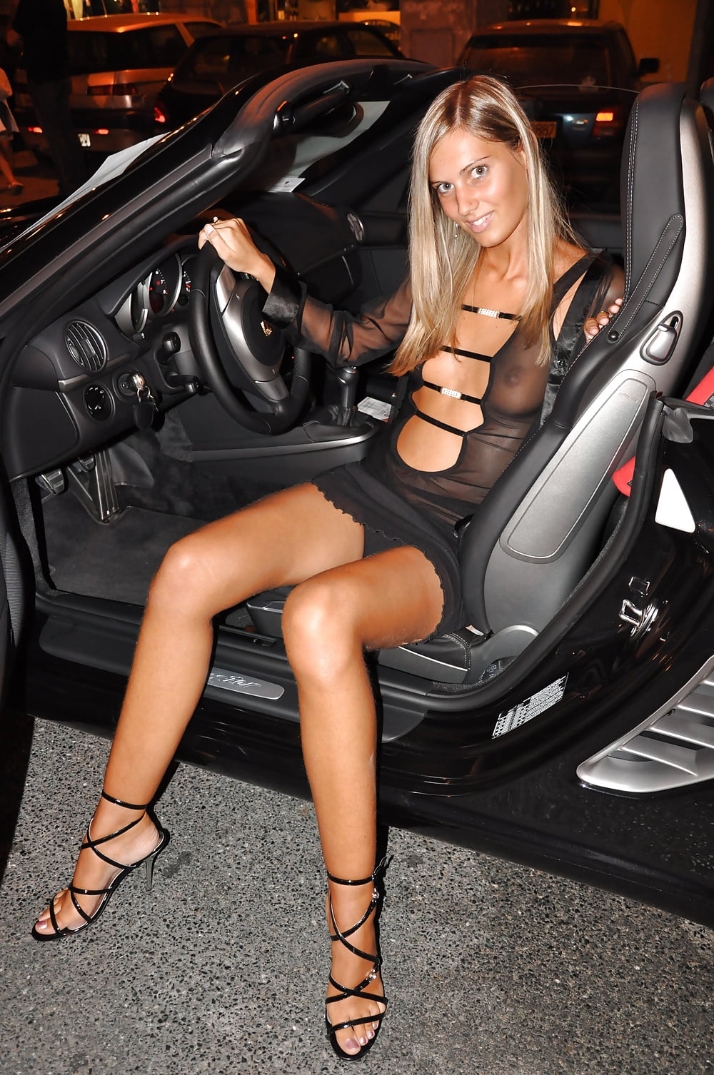 Car upskirt video, sexy tittyfuck sex gif