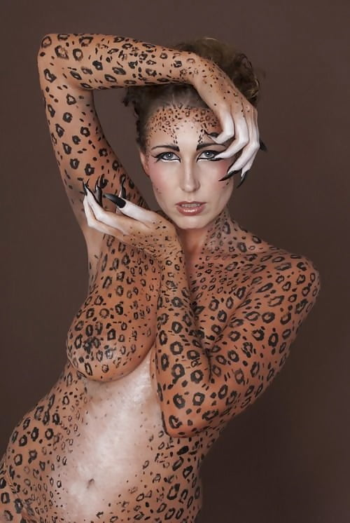 Girl gallery nude cheetah girl painting sleeping gets
