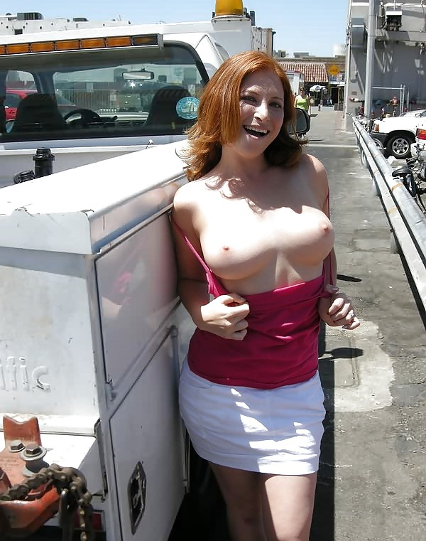 Erotic fucking sexy girl flashes her boobs