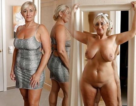 Mature angezogen und nackt