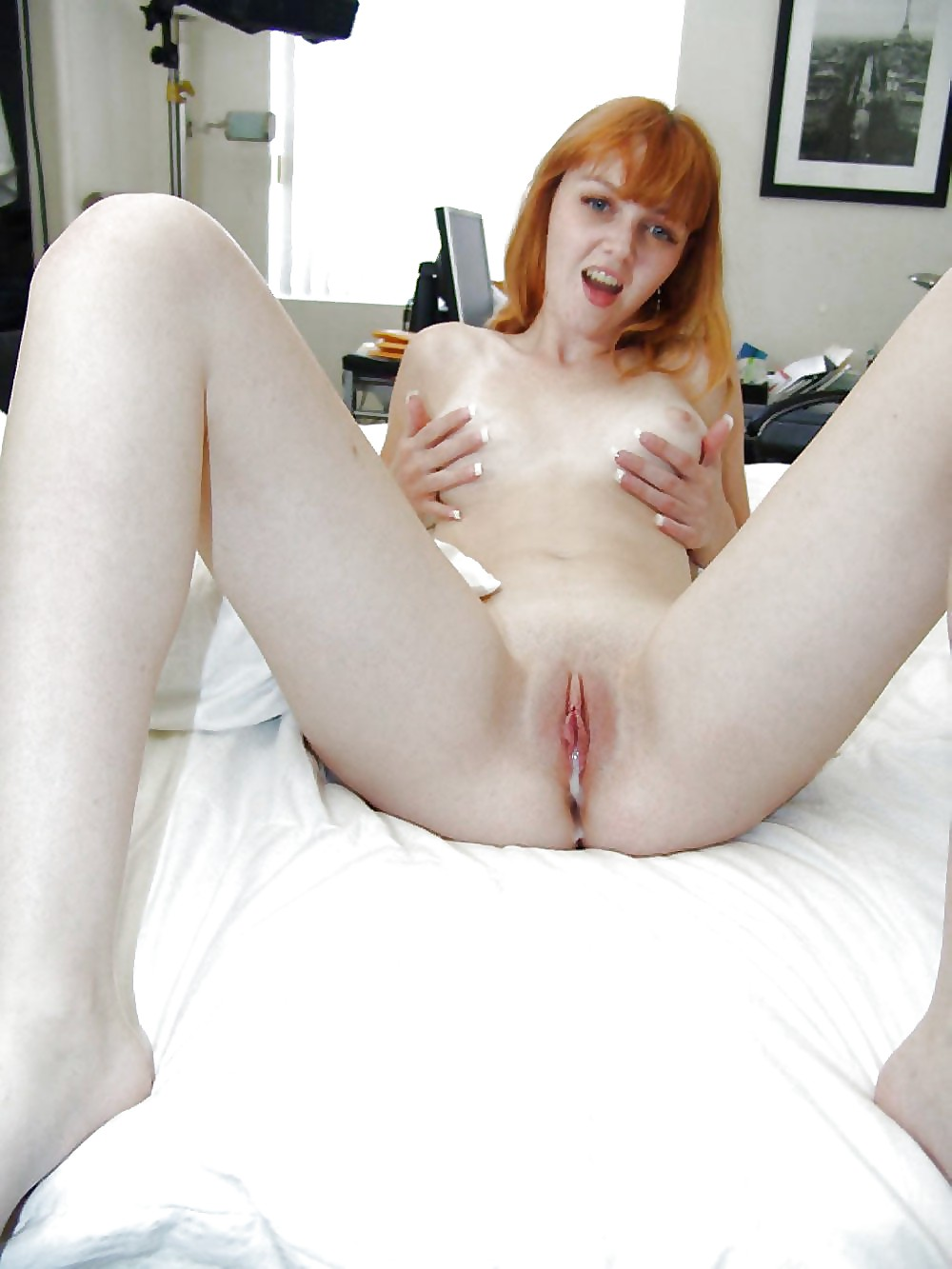 Hot naked red head cream pie sex