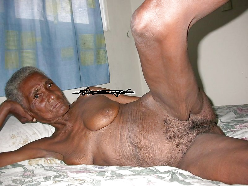 Black granny's naked