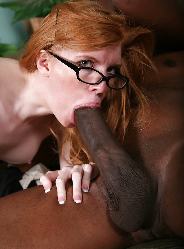 Two Huge Black Cocks For Redhead