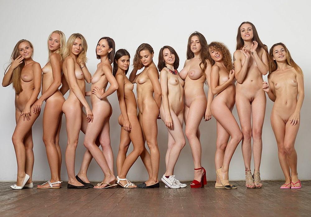 Shy girls nude on the beach