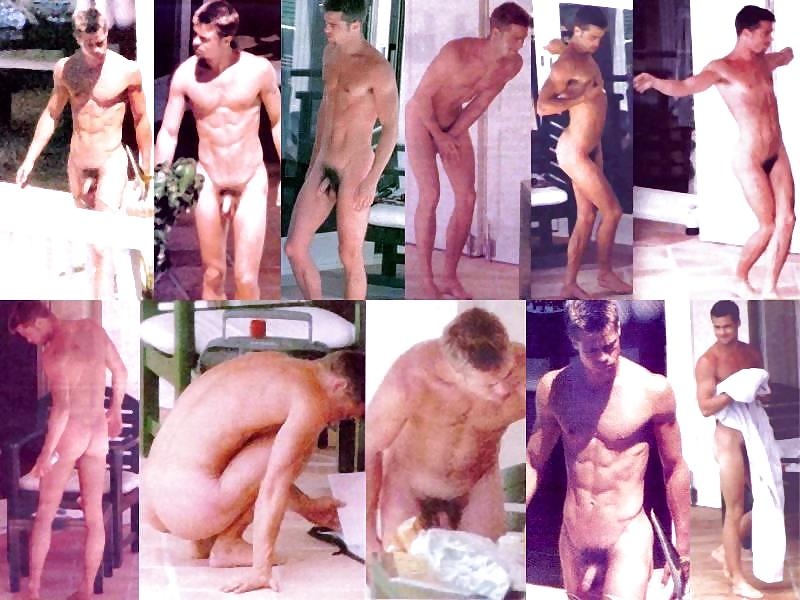 Brad pitt with naked body