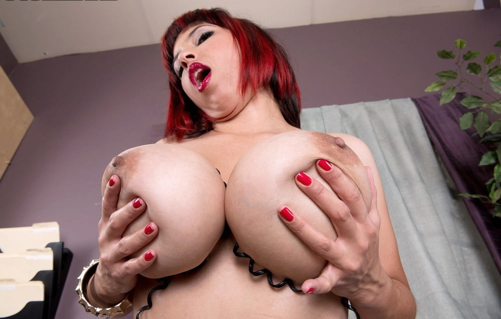 Redhead busty blowjob