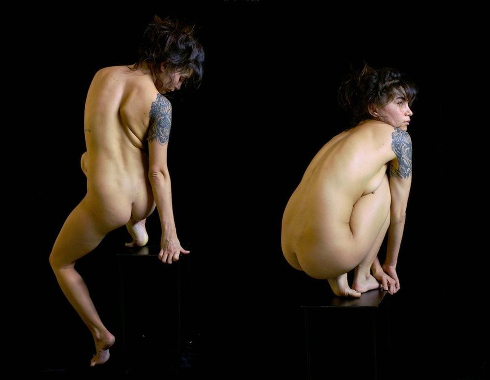 Squat naked in black women