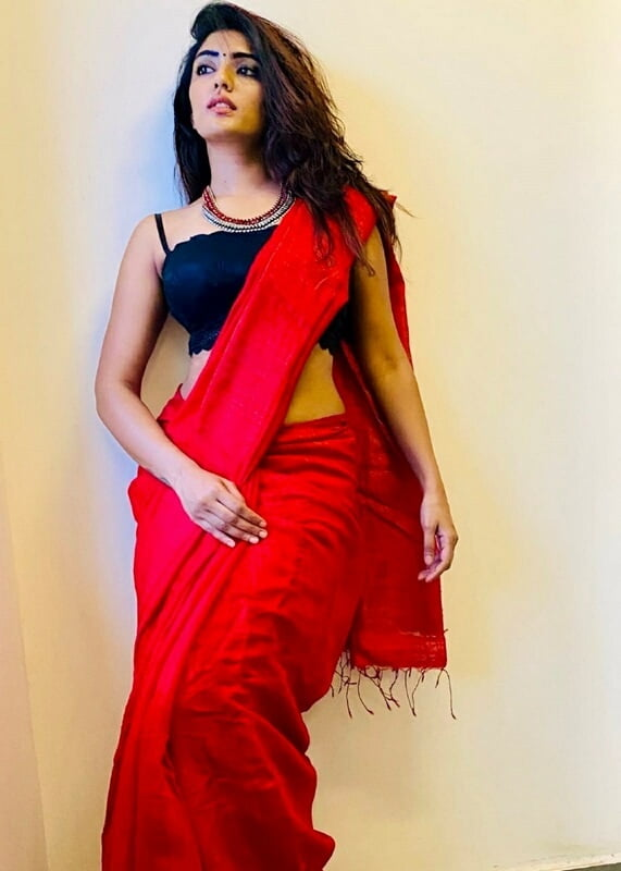 Eesha Rebba in Red Saree