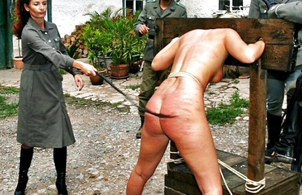 Blonde Slut With Pussy Naked Is Spanked