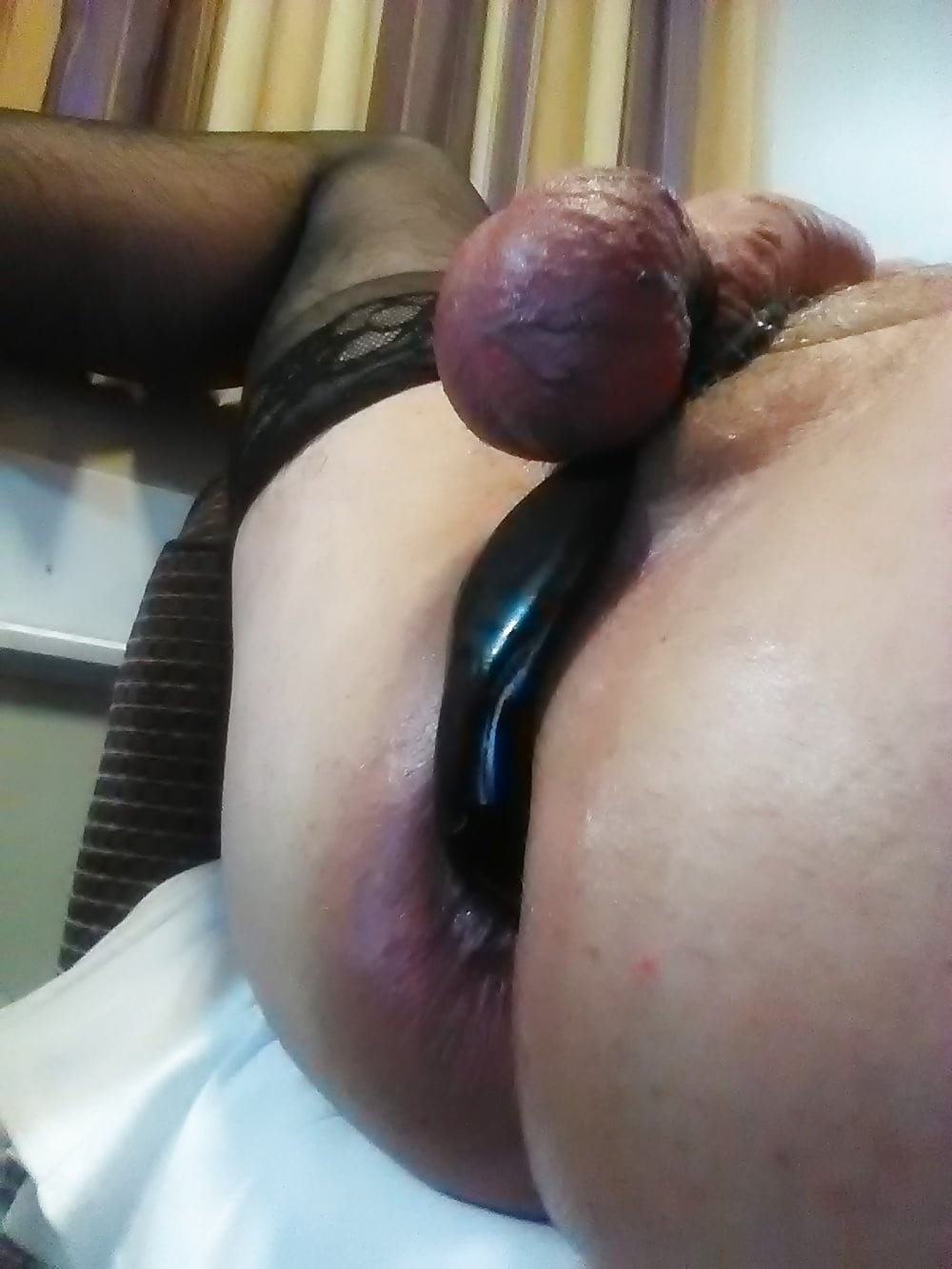 Butt plug with cock ring
