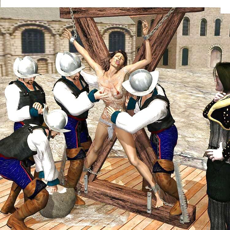 Cg bdsm art crucifixion