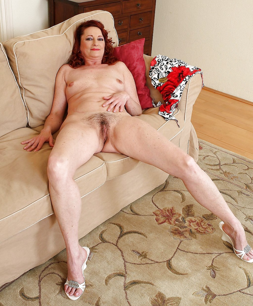 Naked hairy older woman