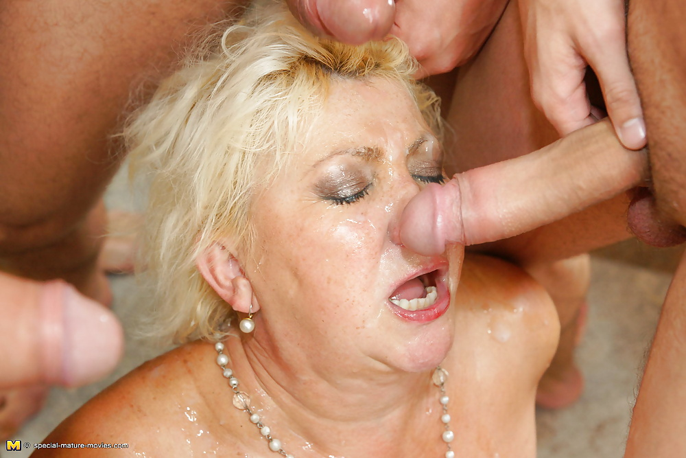 Granny begs gangbang to stop