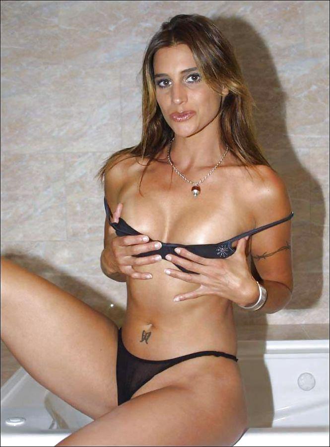 Hot nude girl bathing