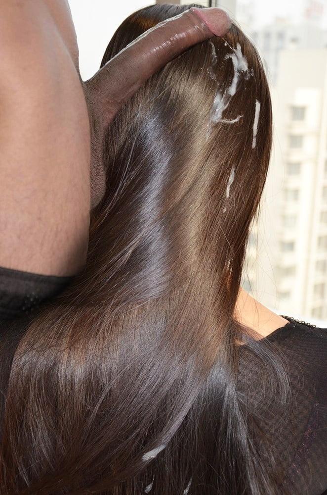 Cum hair Handjob Film