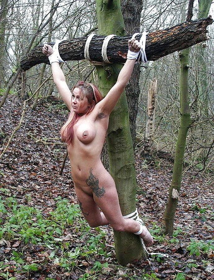 Women Crucified In Bondage