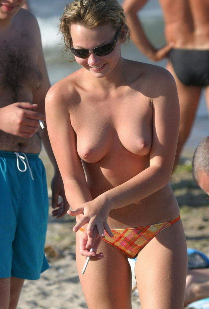 Topless milfs on the beach