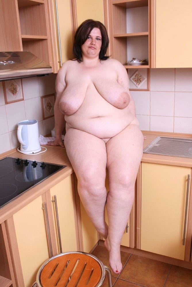 Embarrassed Nude Wife Kitchen
