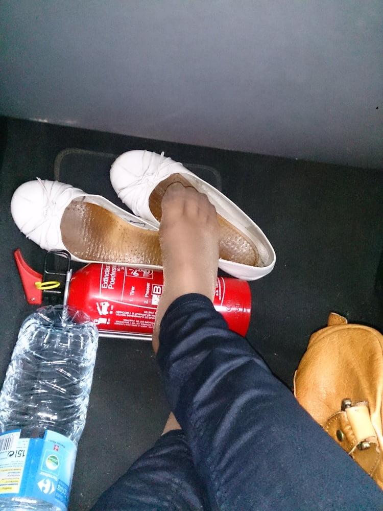 Teen nylon feet