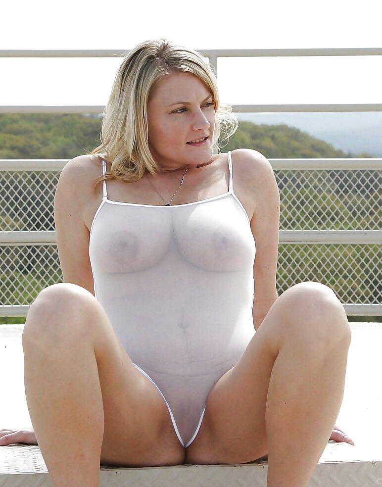 Big tits in see thru panties 13