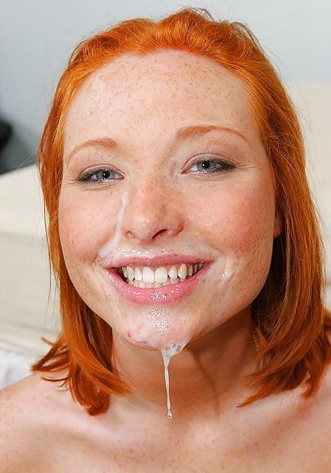 Cute freckled girl cum — pic 14