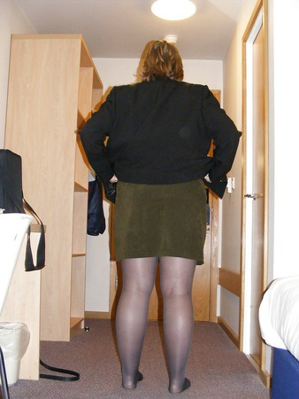 Weekend away tights stockings heels fishnets nylons