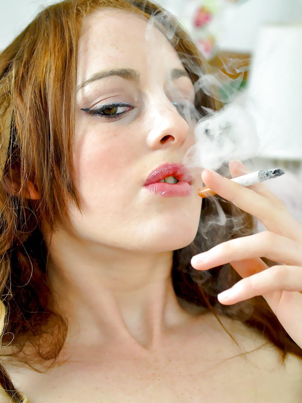Red Head Smoking Blowjob