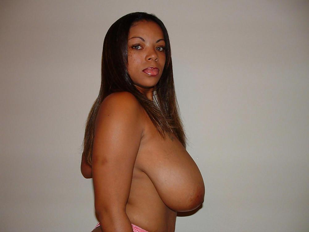 Huge Tits Ebony Double Blowjob