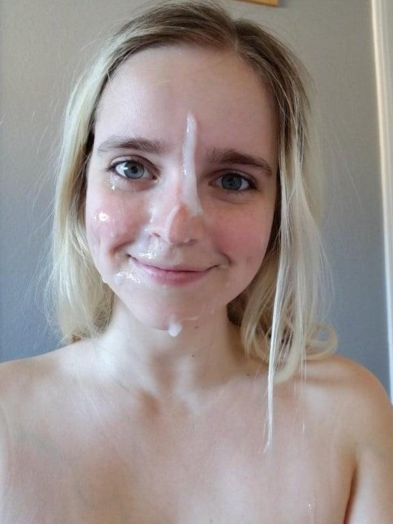 Sweet amateur facials - 17 Pics