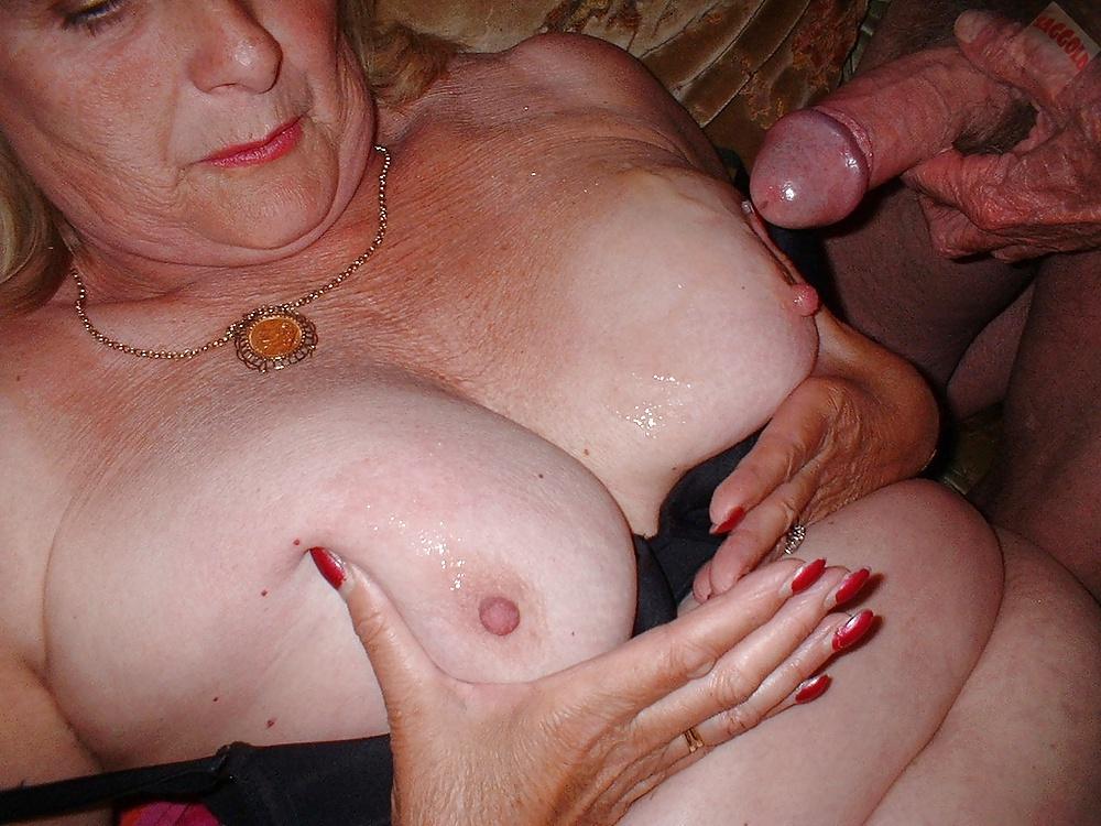 Amateur granny cum swallow