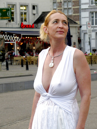 Sexy Cleavage on street (busty girl candid mix) 01
