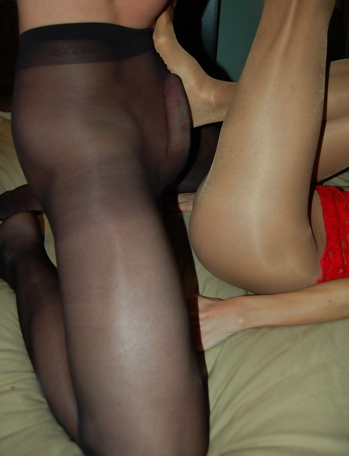 Couple trying pantyhose sex hot