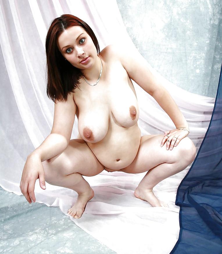 Pregnant young woman naked vagina