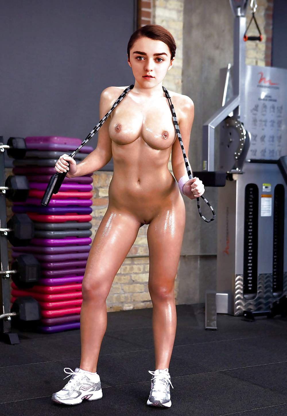 Teenage sluts topless naked gym girl