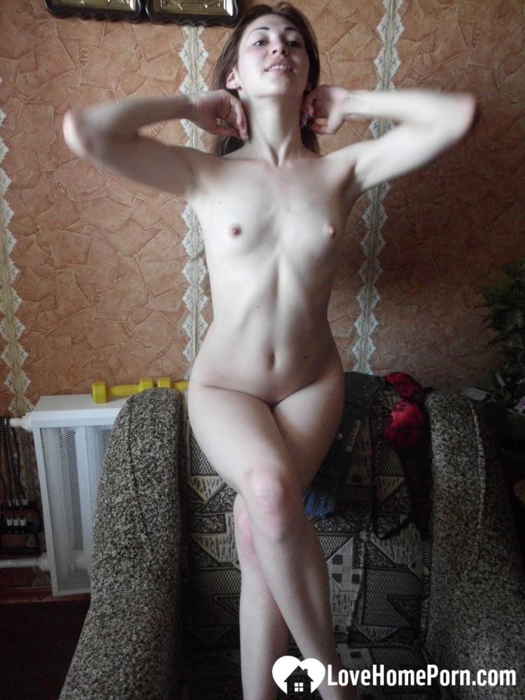 Skinny beauty teasing in sexy seethorugh panties - 147 Pics