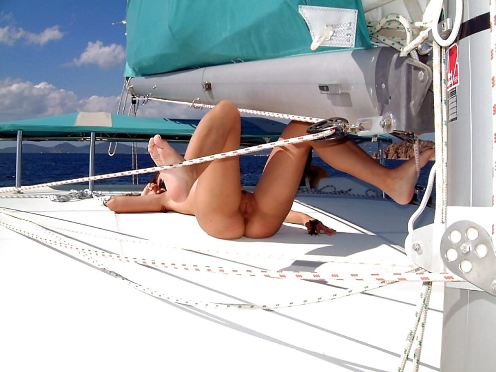 Nude on a boat video