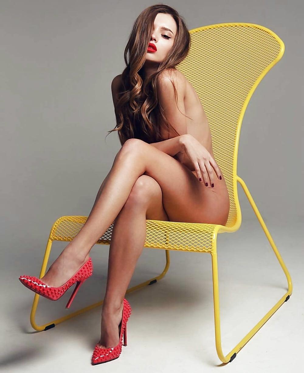 Hot naked women in heels