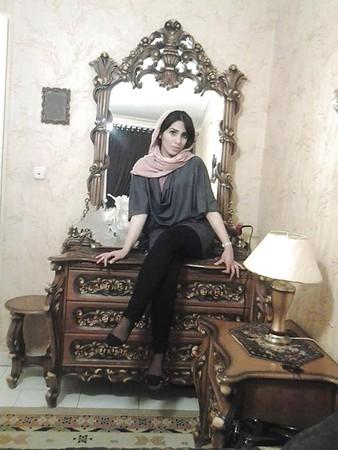 hijab turban nylon feet iran