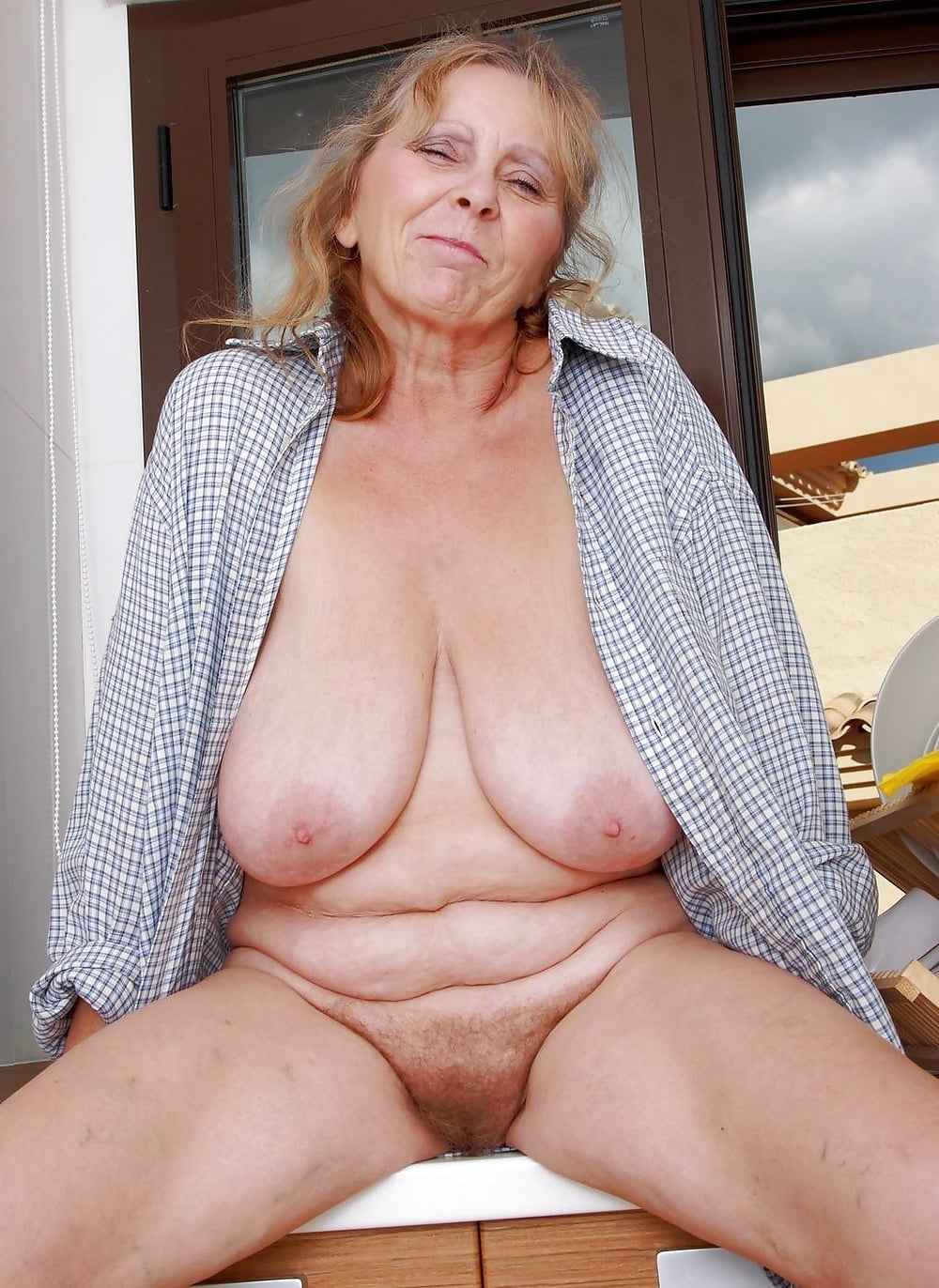 Naked old hot granny