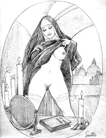 Монахиня порно рисованные картинки — 12