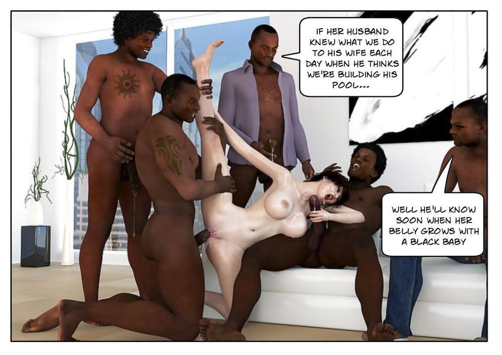 Interracial cuckold orgy