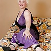 Blonde BBW granny with dildo