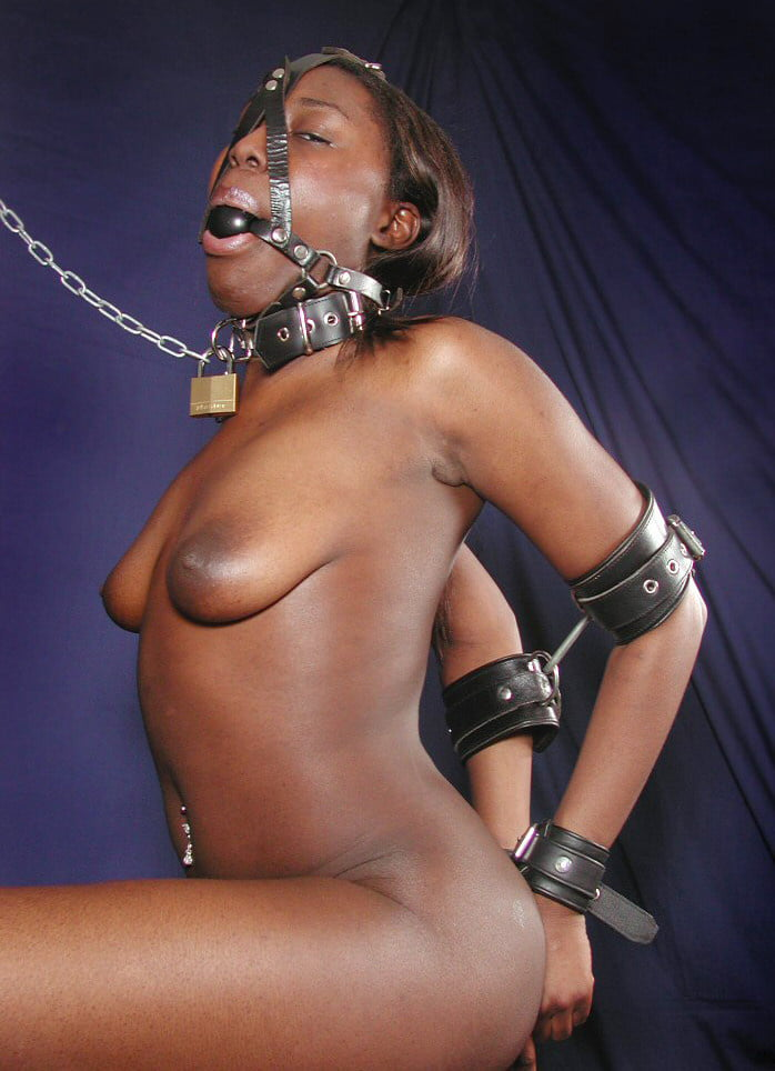 Black woman nude in bondage