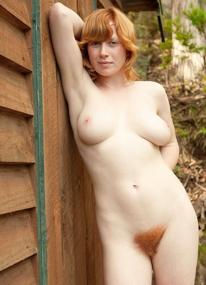 Girls with redhead barn door nude
