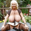 Granny, big huge natural tits, nipples, saggy, chubby, puffy